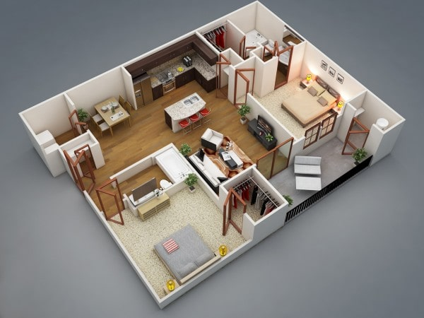 คอนโด 2ห้องนอน