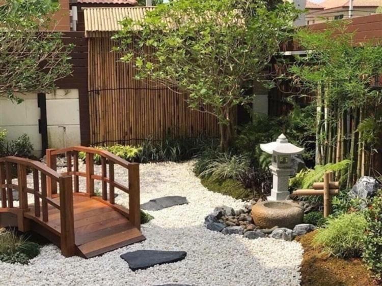 สวนหน้าบ้านสไตล์ญี่ปุ่น