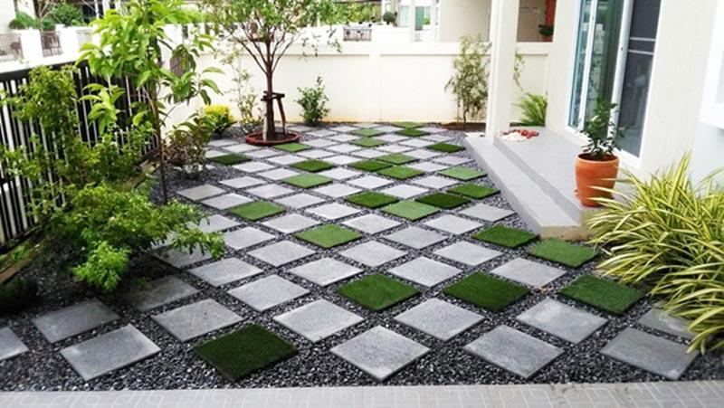 จัดสวนข้างบ้านสวยๆ